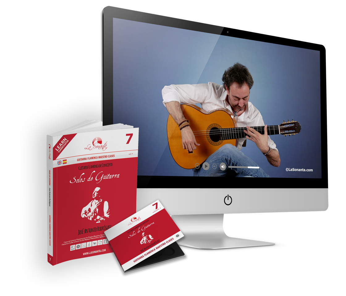 Jose Antonio Rodriguez flamenco guitar master class book DVD Guitarra Flamenca de Concierto – Solos de Guitarra
