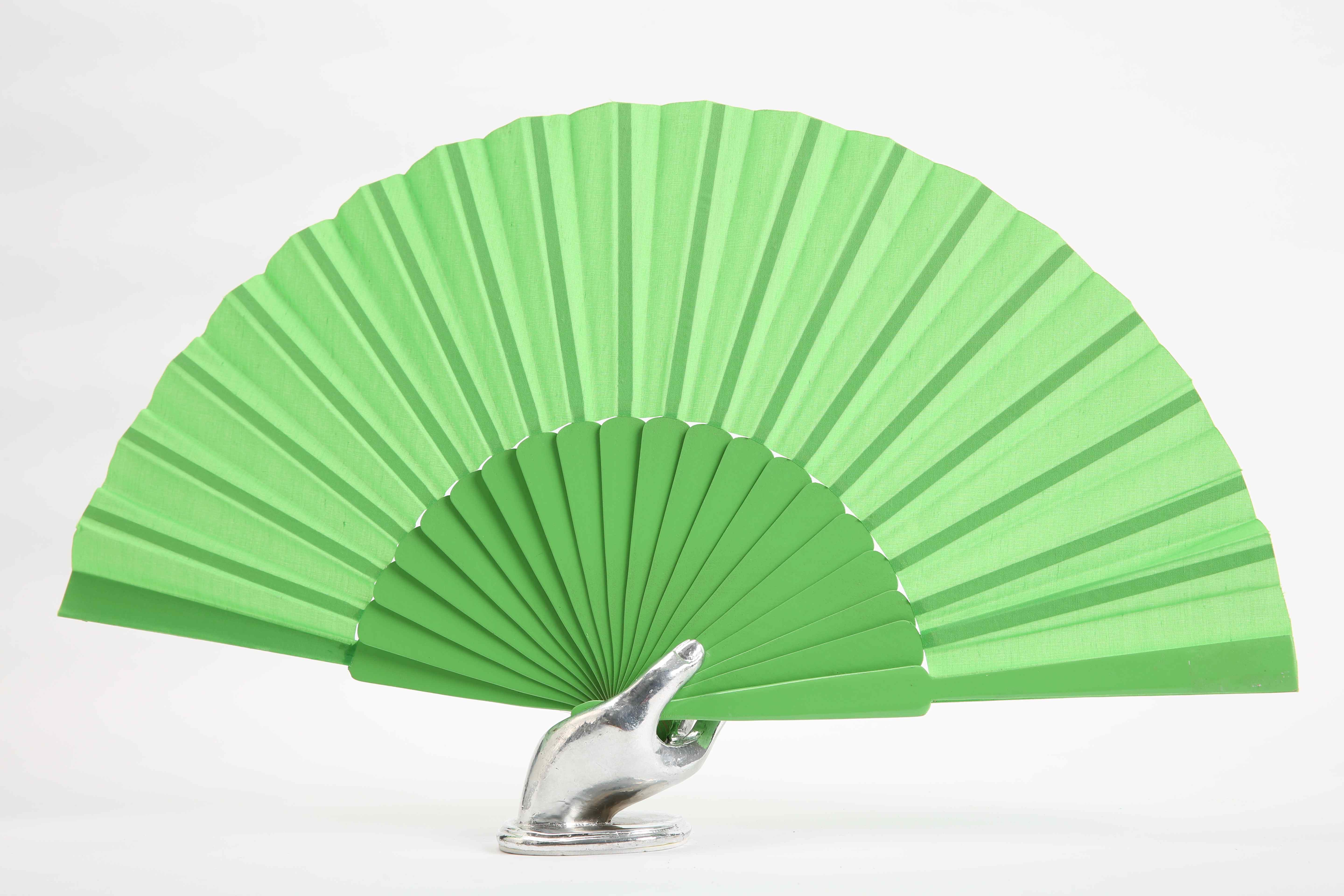 Flamenco dance fan light green