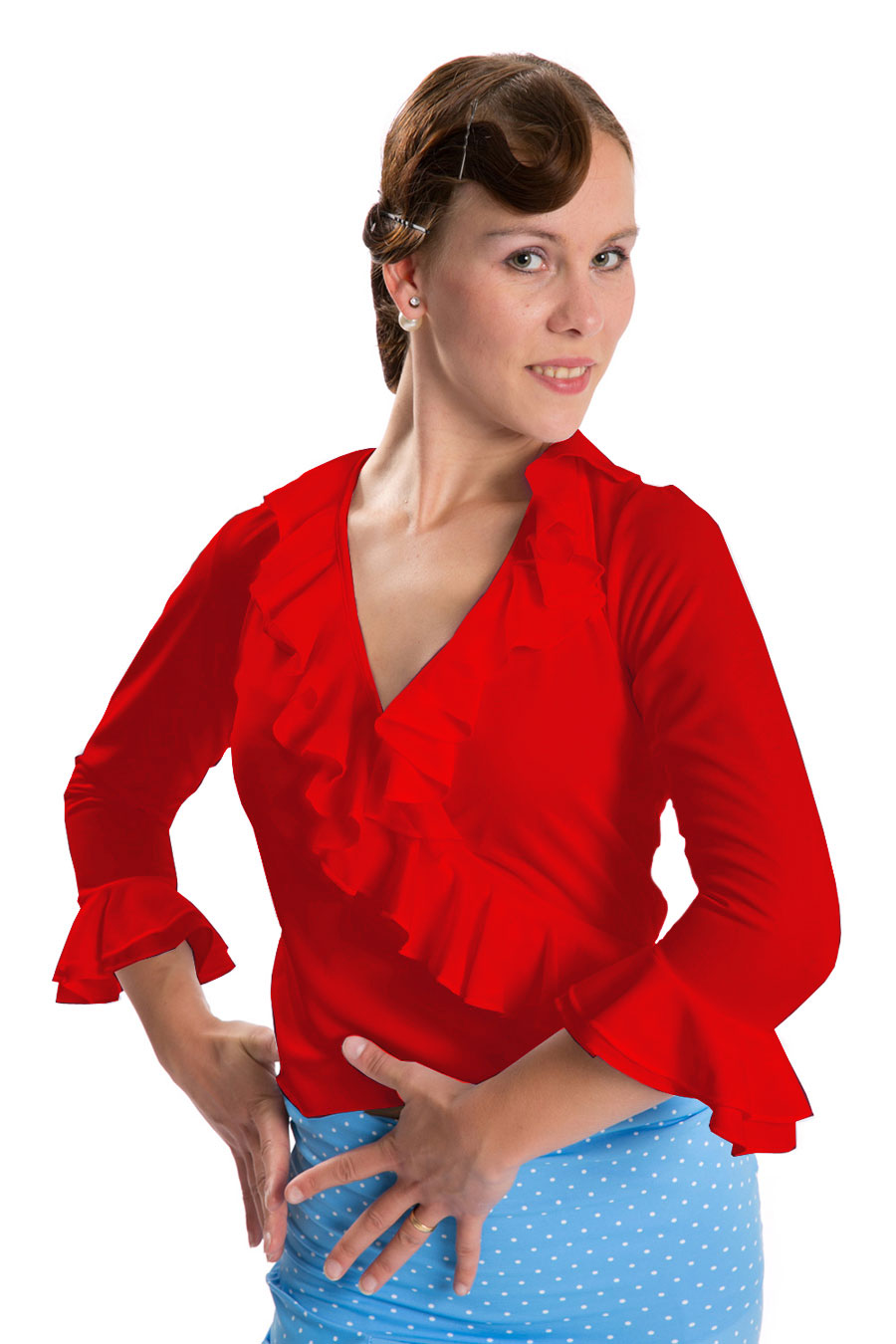 Flamenco blouse red