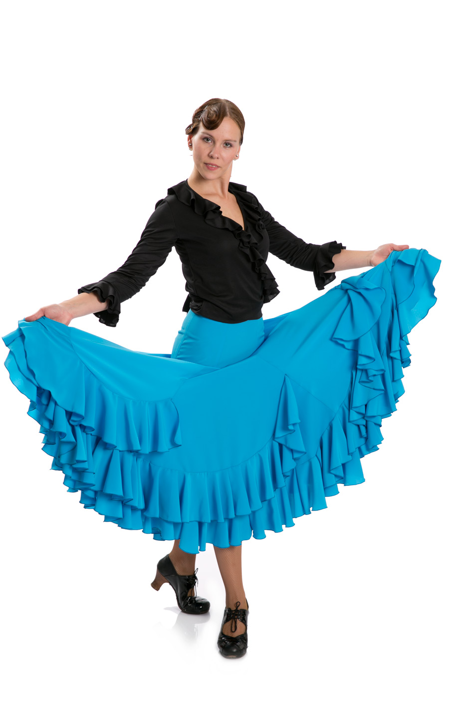 Flamenco Dance Skirt Triana FL Blue size S