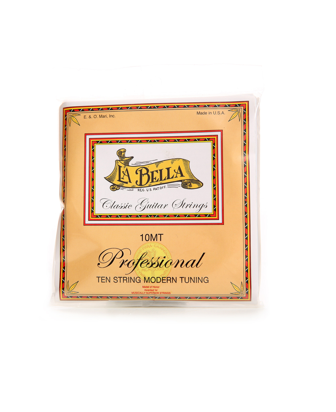 Set of 10 guitar strings La Bella 10MT