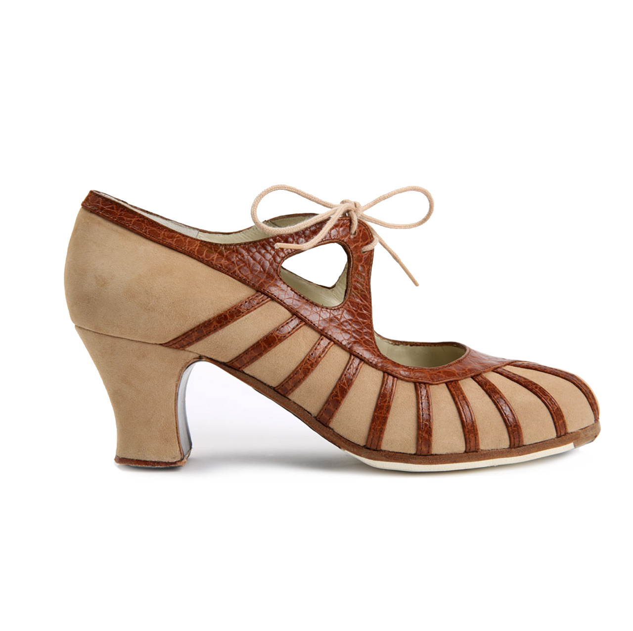 Flamenco Dance Shoe Primor Beige/Snake