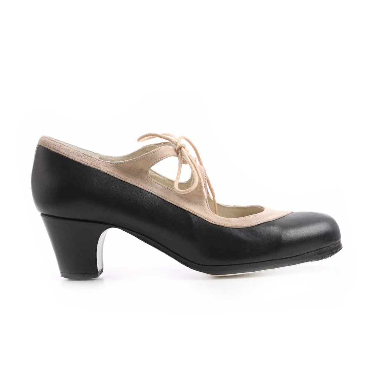 Flamenco dance Shoe Candor Black/Suède Beige
