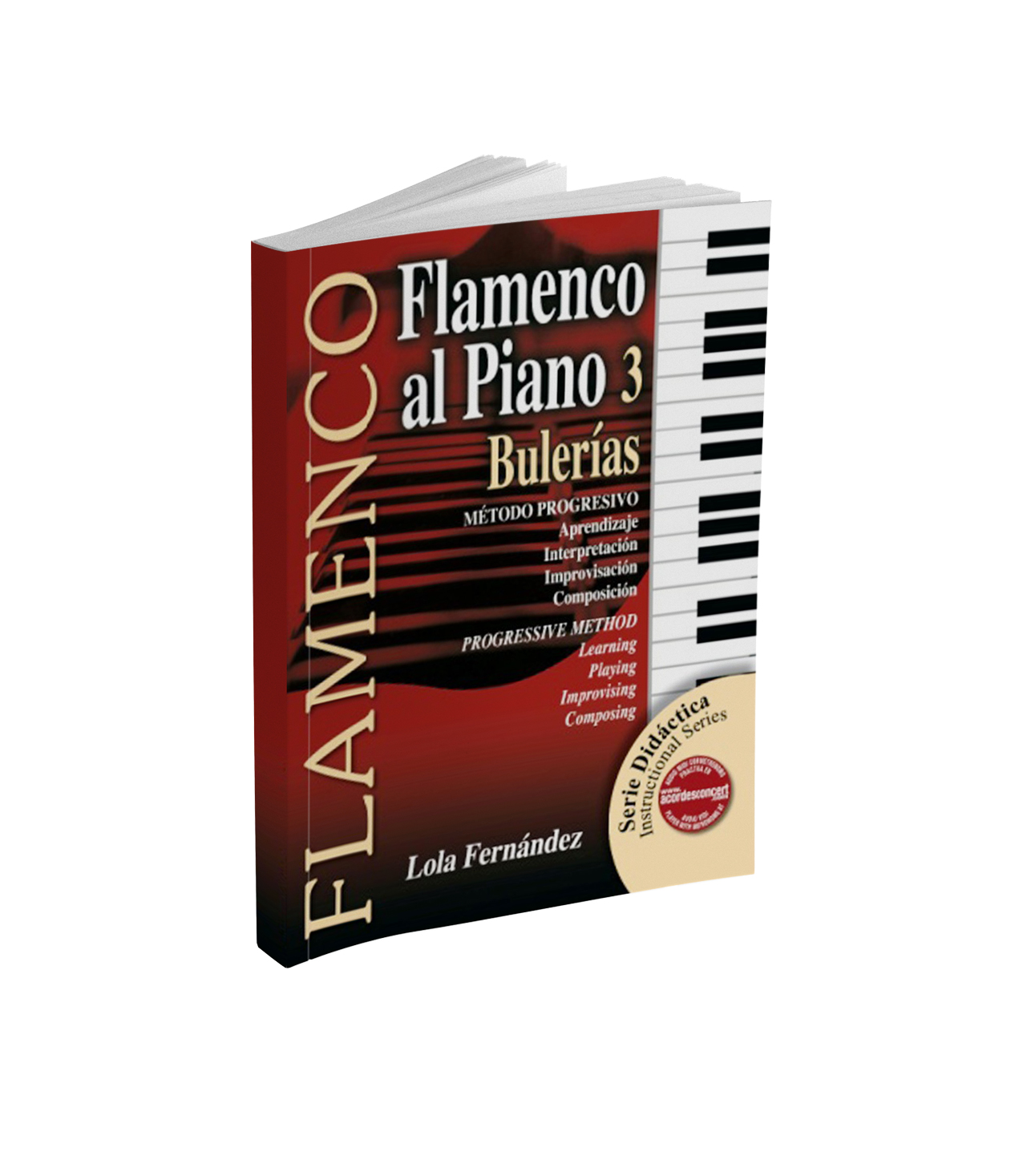 Flamenco piano sheet music book for bulería