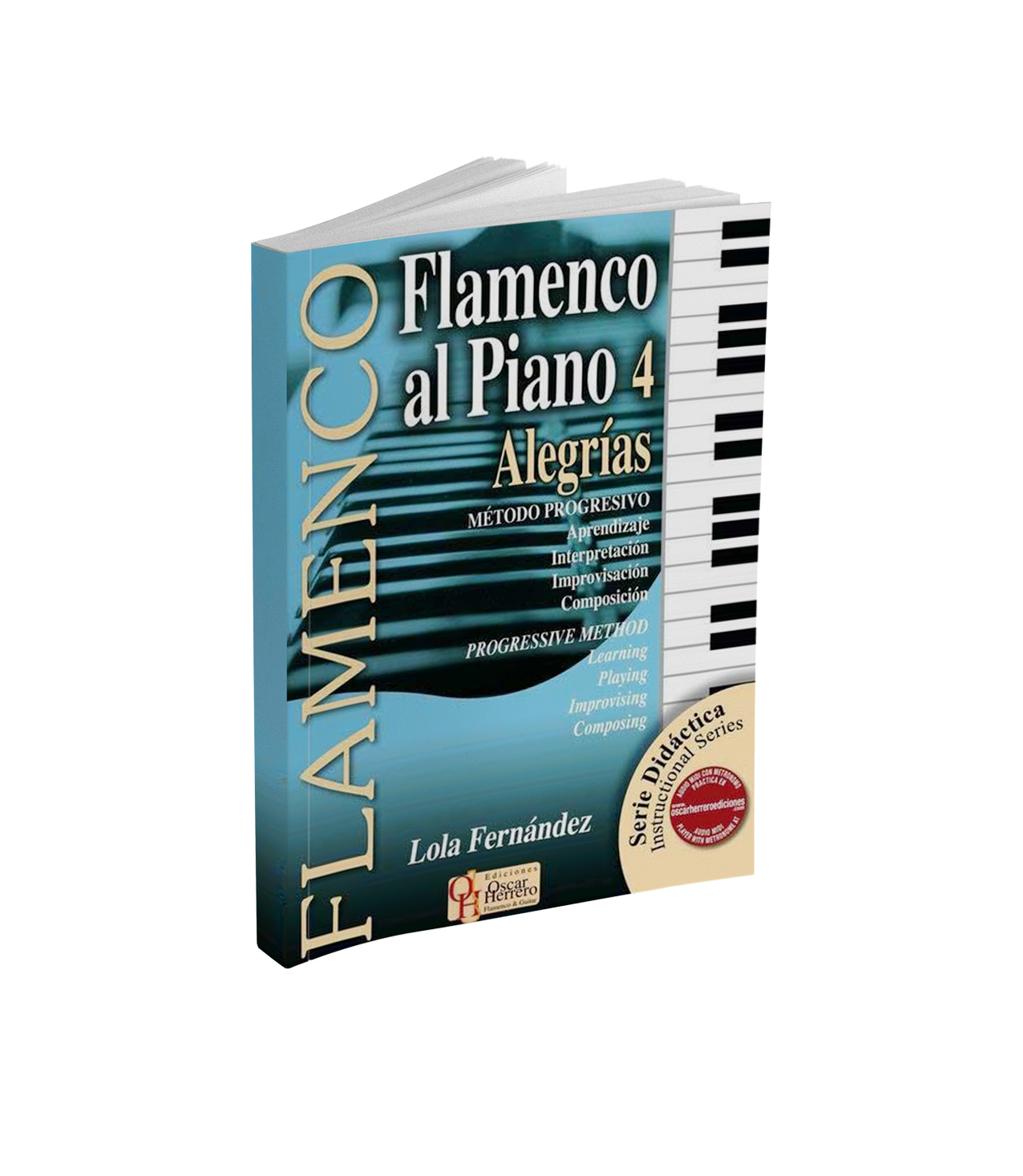 Flamenco piano sheet music book for alegrías