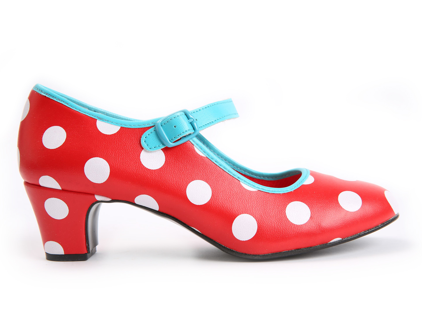 Spanish dance shoe for children white dots