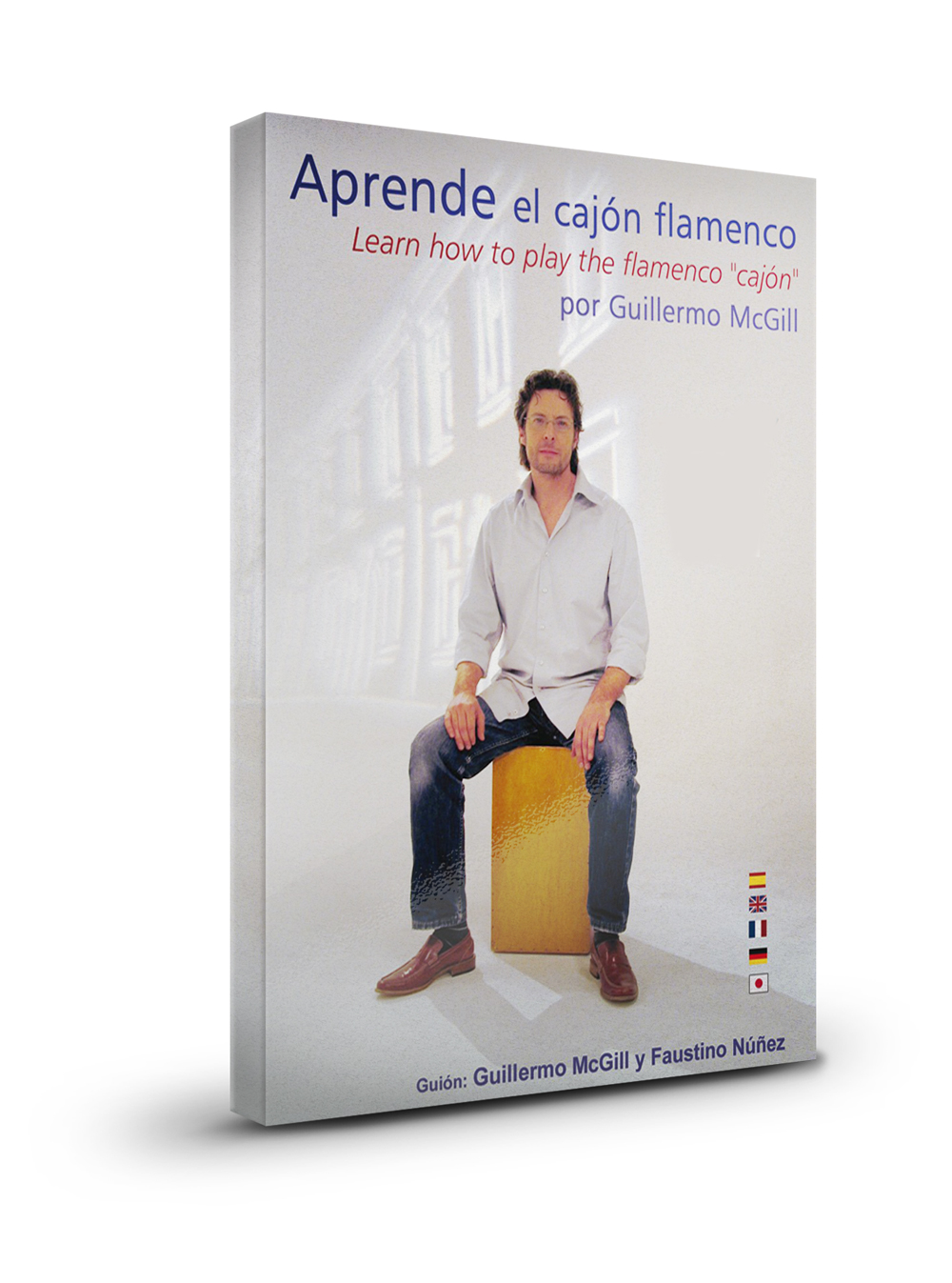 Learn how to play the cajón percussion DVD score book