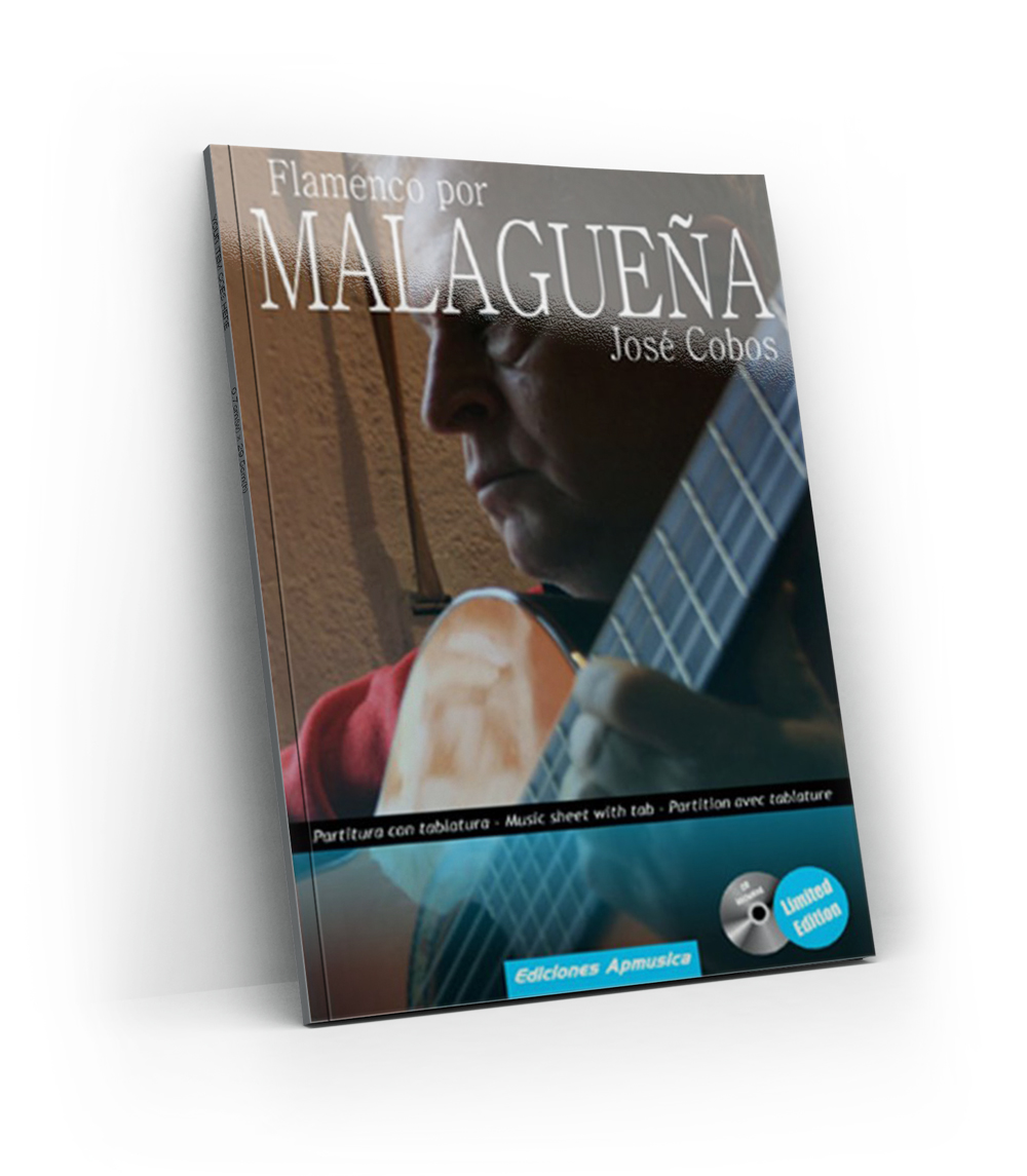 Flamenco guitar training method for Malaguena