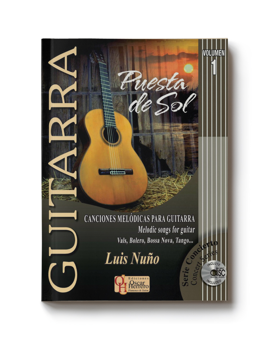 Score book classical guitar most traditional rhythms, intermediate level