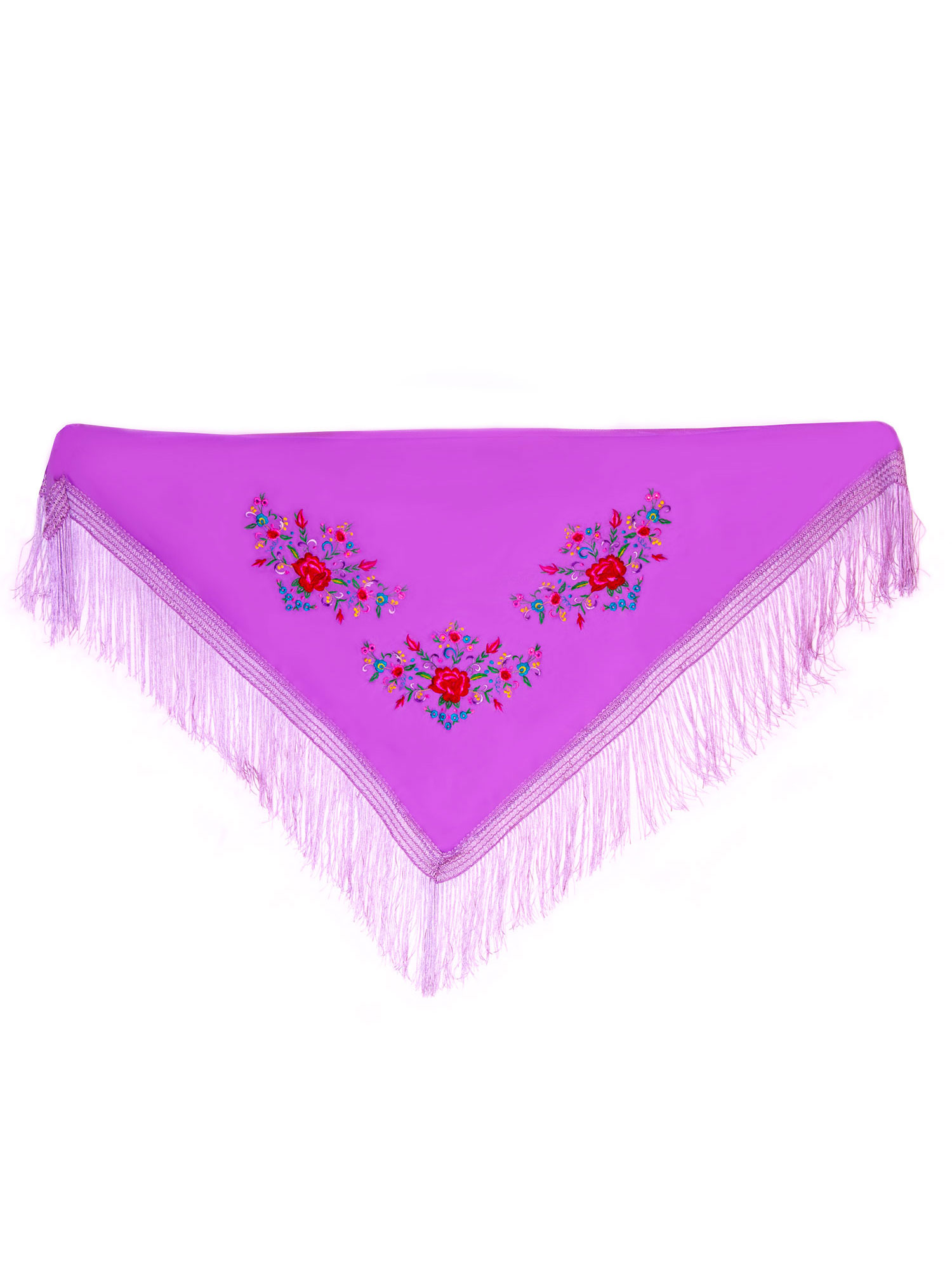 Scarf 150 x 70 violet embroidered