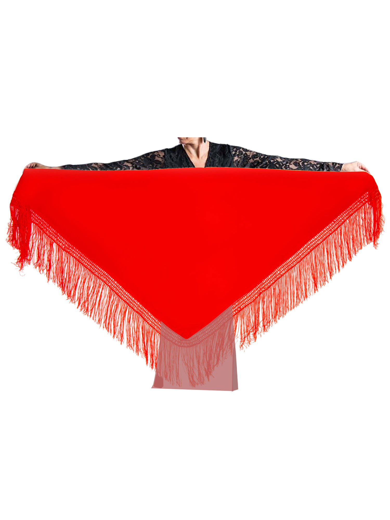 flamenco shawl red 150 x 70