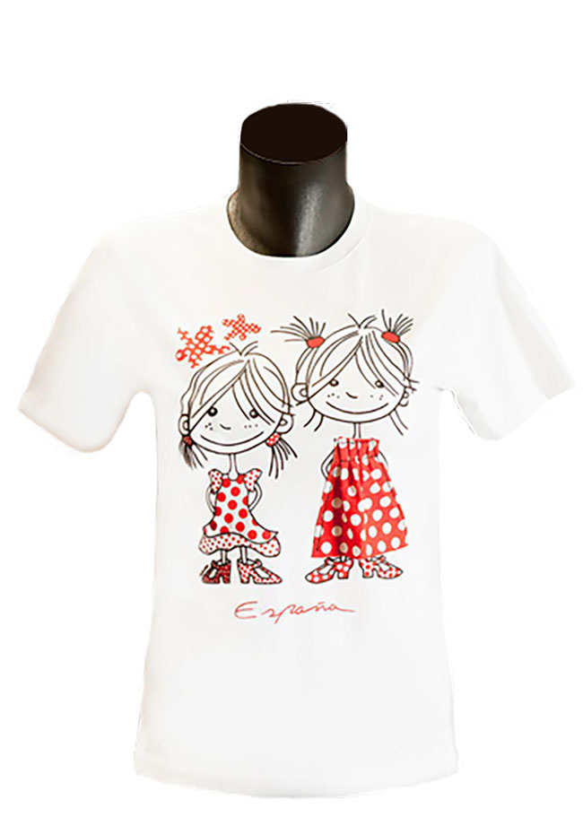 Kids T-shirt flamenco Dos Niños 12 - 14 years