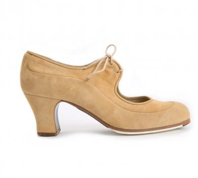 Flamenco dance Shoe Angelito Suède Beige
