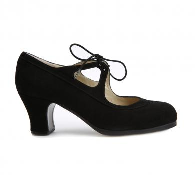 Flamenco dance shoe Candor Suede Black