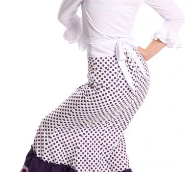 Flamenco Skirt Doña Ana Lunares Purple