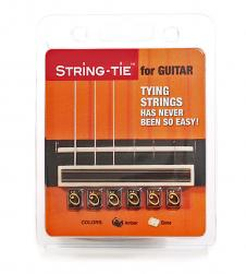 Guitar string tie brown amber color