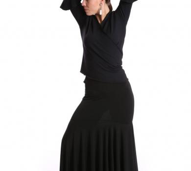 Flamenco Dance Skirt Black Intermezzo