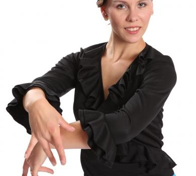 Flamenco dance blouse black